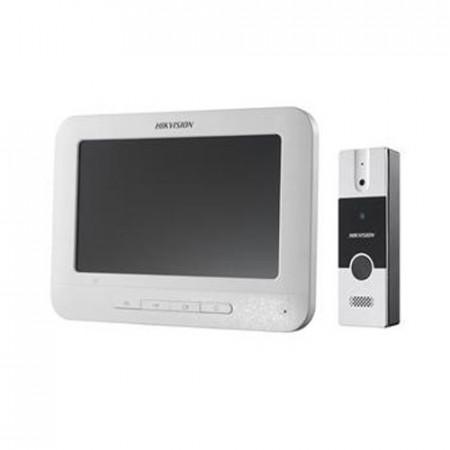 Комплект видеодомофон и вызывная панель Hikvision DS-KIS204
