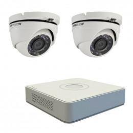 Комплект TurboHD видеонаблюдения Hikvision KIT-DS0180