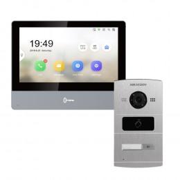 Комплект домофон Hikvision DS-KH8350-TE1 + вызывная панель DS-KV8102-IM