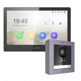 Комплект домофон Hikvision DS-KH8520-WTE1 + вызывная панель DS-KD8003-IME1/Surface