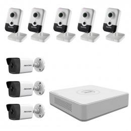 Комплект IP видеонаблюдения Hikvision KIT-DS0218