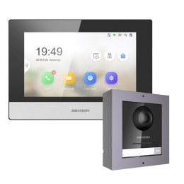 Комплект домофон Hikvision DS-KH6320-TE1 + вызывная панель DS-KD8003-IME1/Surface