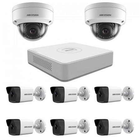 Комплект IP видеонаблюдения Hikvision KIT-DS0228