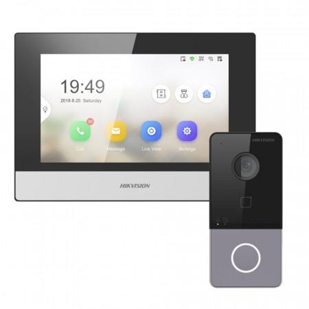 Комплект домофон Hikvision DS-KH6320-WTE1 + вызывная панель DS-KV6103-PE1