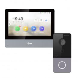Комплект домофон Hikvision DS-KH8350-WTE1 + вызывная панель DS-KV6113-WPE1