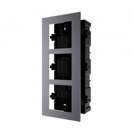 Врезная монтажная рамка на 3 модуля Hikvision DS-KD-ACF3/Plastic