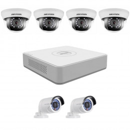 Комплект TurboHD видеонаблюдения Hikvision KIT-DS0247