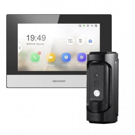 Комплект домофон Hikvision DS-KH6320-WTE1 + вызывная панель DS-KB8113-IME1