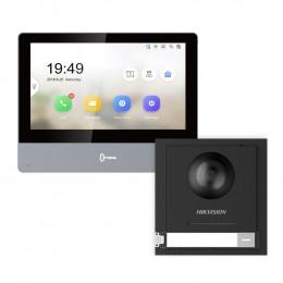 Комплект домофон Hikvision DS-KH8350-TE1 + вызывная панель DS-KD8003-IME1