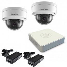 Комплект IP видеонаблюдения Hikvision KIT-DS0134