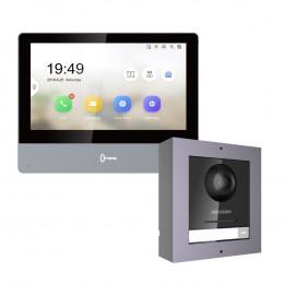 Комплект домофон Hikvision DS-KH8350-TE1 + вызывная панель DS-KD8003-IME1/Surface