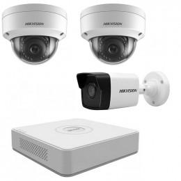 Комплект IP видеонаблюдения Hikvision KIT-DS0140