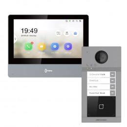 Комплект домофон Hikvision DS-KH8350-TE1 + вызывная панель DS-KV8413-WME1