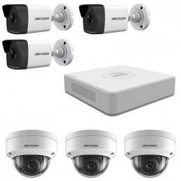 Комплект IP видеонаблюдения Hikvision KIT-DS0236