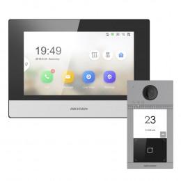 Комплект домофон Hikvision DS-KH6320-TE1 + вызывная панель DS-KV8113-WME1