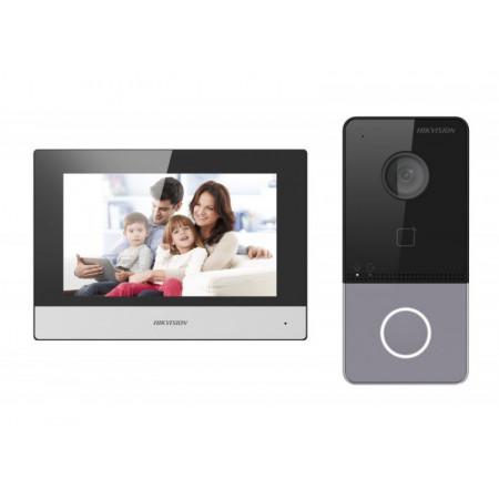 Комплект домофон + вызывная панель Hikvision DS-KIS603-P