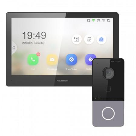 Комплект домофон Hikvision DS-KH8520-WTE1 + вызывная панель DS-KV6103-PE1
