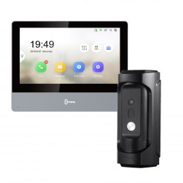 Комплект домофон Hikvision DS-KH8350-TE1 + вызывная панель DS-KB8113-IME1