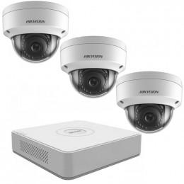 Комплект IP видеонаблюдения Hikvision KIT-DS0138