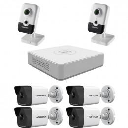 Комплект IP видеонаблюдения Hikvision KIT-DS0210