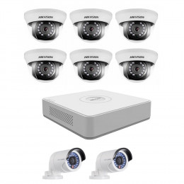 Комплект TurboHD видеонаблюдения Hikvision KIT-DS0255
