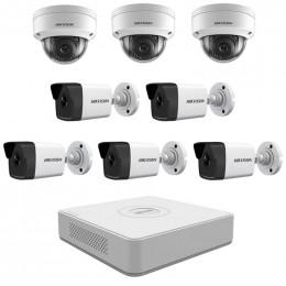 Комплект IP видеонаблюдения Hikvision KIT-DS0242