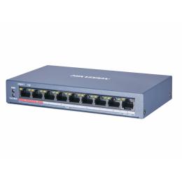 8-портовый POE коммутатор Hikvision DS-3E0109P-E/M(B)