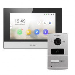 Комплект домофон Hikvision DS-KH6320-TE1 + вызывная панель DS-KV8102-IM