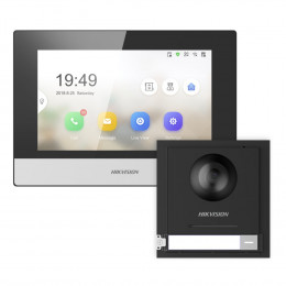 Комплект домофон Hikvision DS-KH6320-TE1 + вызывная панель DS-KD8003-IME1