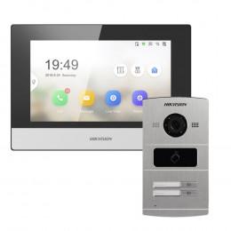 Комплект домофон Hikvision DS-KH6320-TE1 + вызывная панель DS-KV8202-IM