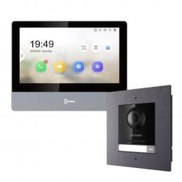 Комплект домофон Hikvision DS-KH8350-TE1 + вызывная панель DS-KD8003-IME1/Flush