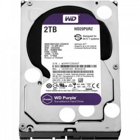 Жесткий диск 2TB 64MB Western Digital WD20PURZ